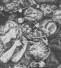 Particolare del frontespizio di 'Goblin Market and other poems' di Christina Rossetti