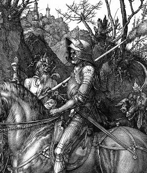 Albrecht Dürer- Il cavaliere, la morte e il diavolo