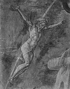 """Cosmè Tura, """"Cristo crocifisso"""" (1474)"""