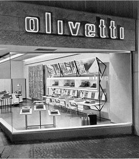 Un vecchio negozio monomarca della Olivetti