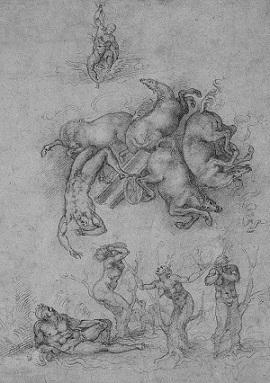 Michelangelo. Caduta di fetonte
