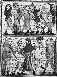 Miniatura, Festa dei Folli. Dal Roman de Fauvel