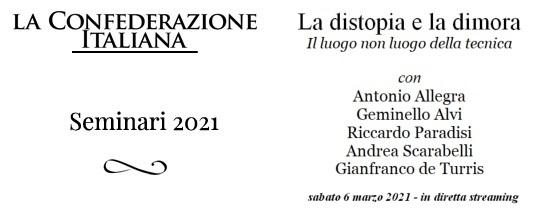 Seminari 2021 - locandina - La distopia e la dimora