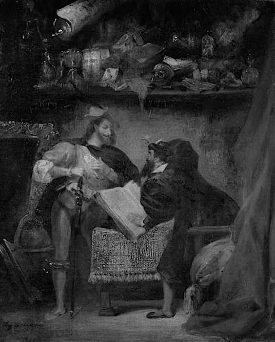 Eugene Delacroix - Faust e Mefistofele
